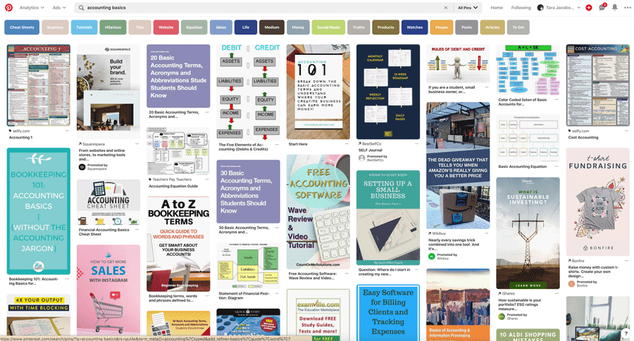 Accounting Pinterest Research