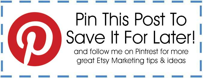 Etsy Marketing Pin It For Later Button