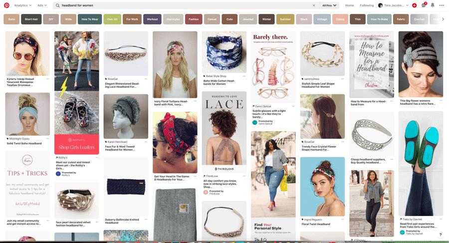 Headbands Pinterest Search