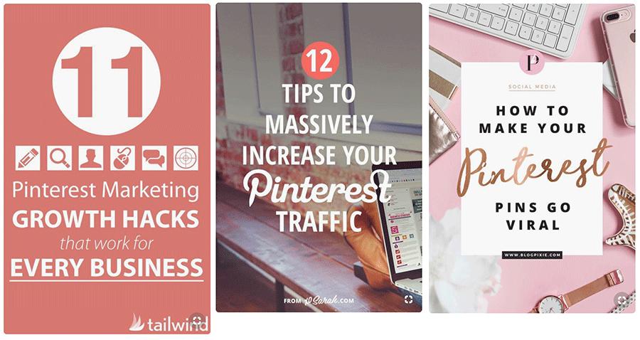 Pinterest Marketing Pins