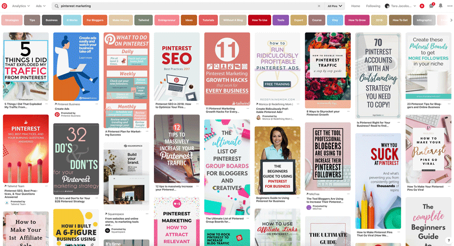 Pinterest Marketing Pinterest Search