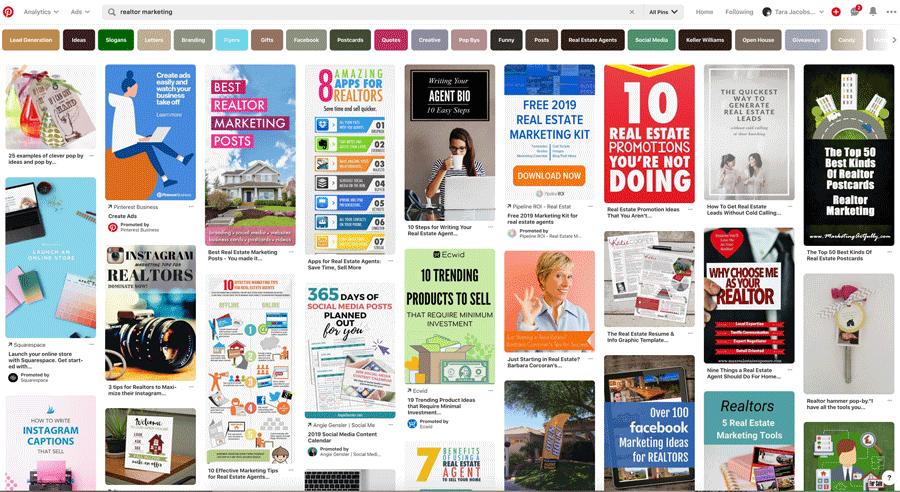 Real Estate Marketing Pinterest Search