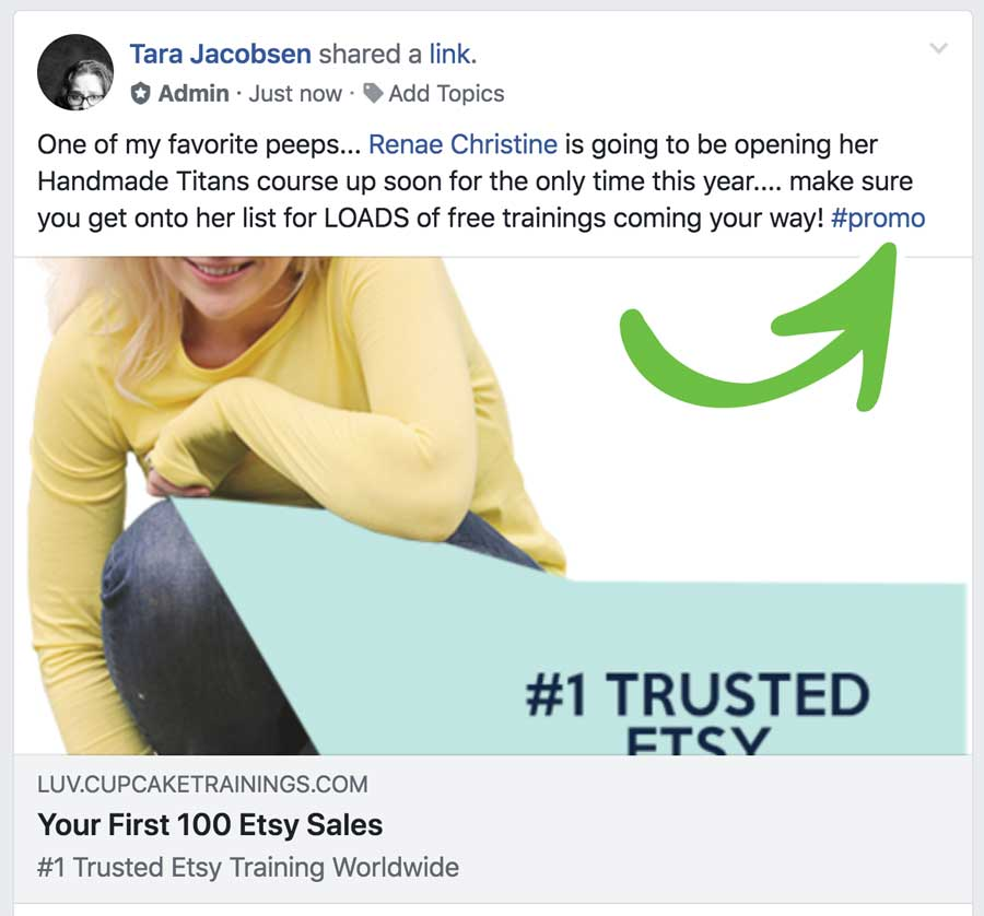First 100 sales promo facebook post