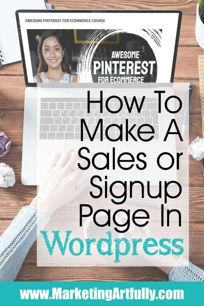 How To Make A Sales Or Email Landing Page In WordPress