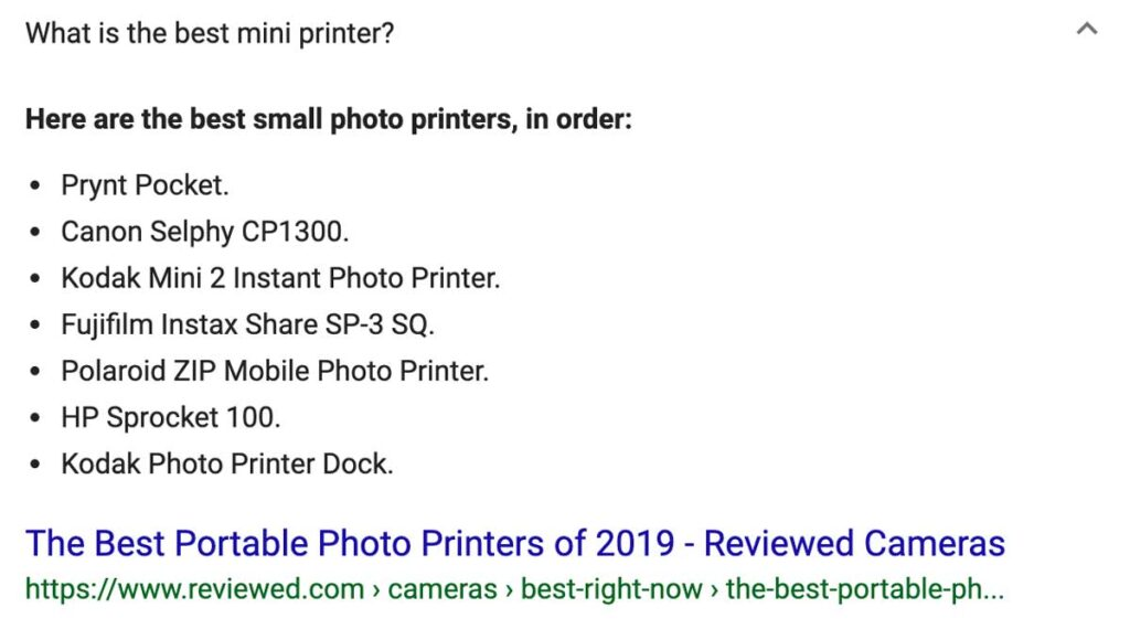 Small photo printer search results