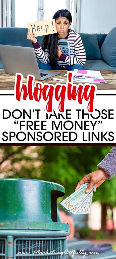 "Why You Shouldn't Take Those ""Free Money"" Sponsored Links"