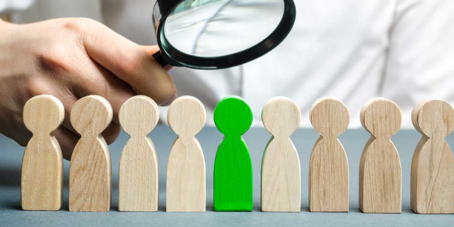 human resources to help with relocation... magnifying glass and little people
