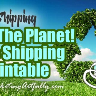 Save The Planet - Free Shipping Printable