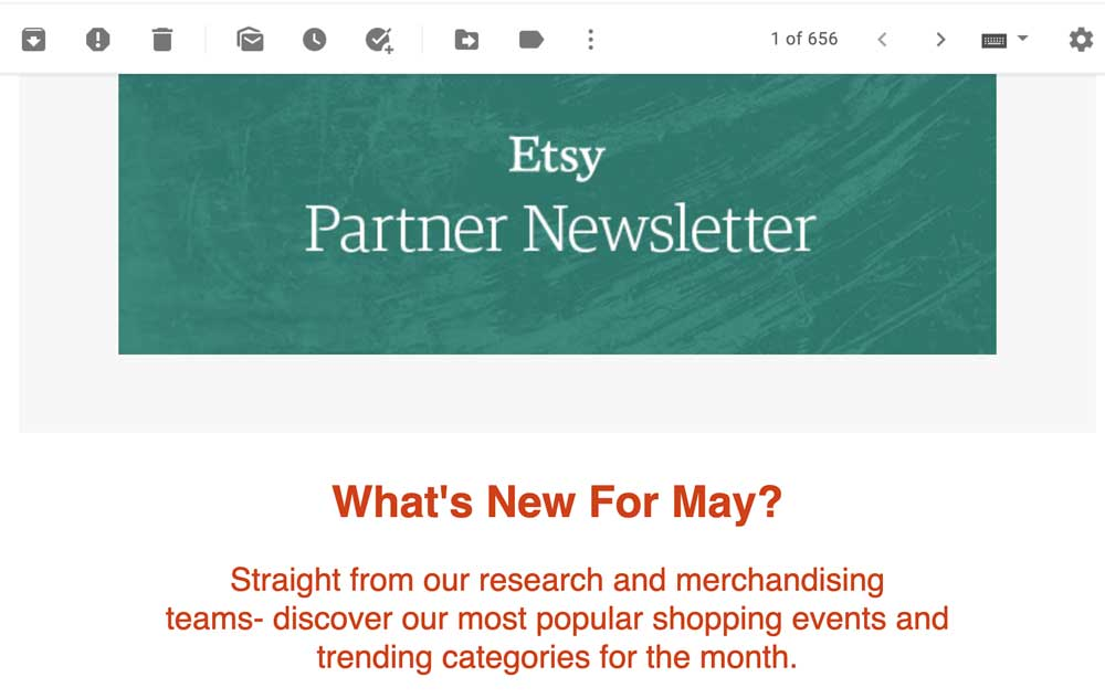Etsy Partner Newsletter