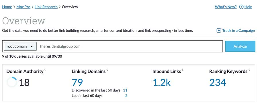 Moz Tool To Check Number Of Links