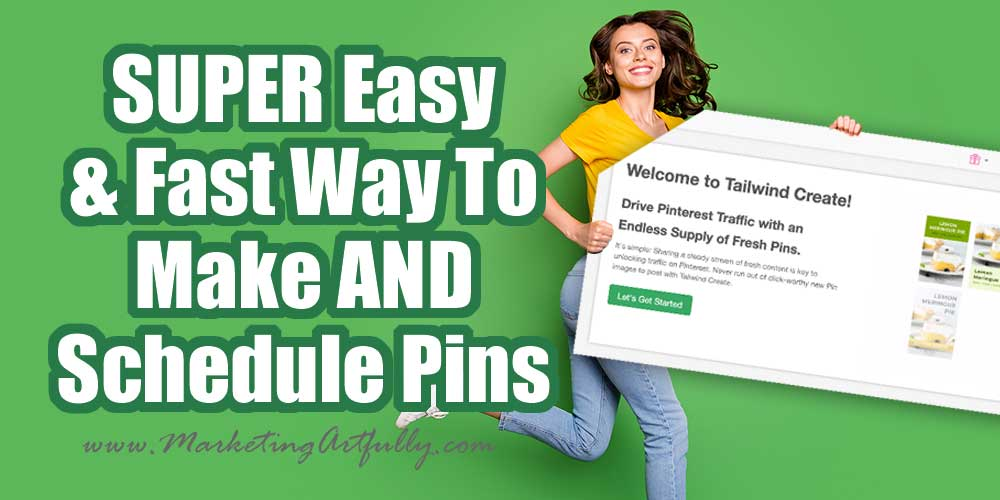 How To Make LOADS of Pinterest Pins Fast & Easy With Tailwind Create!