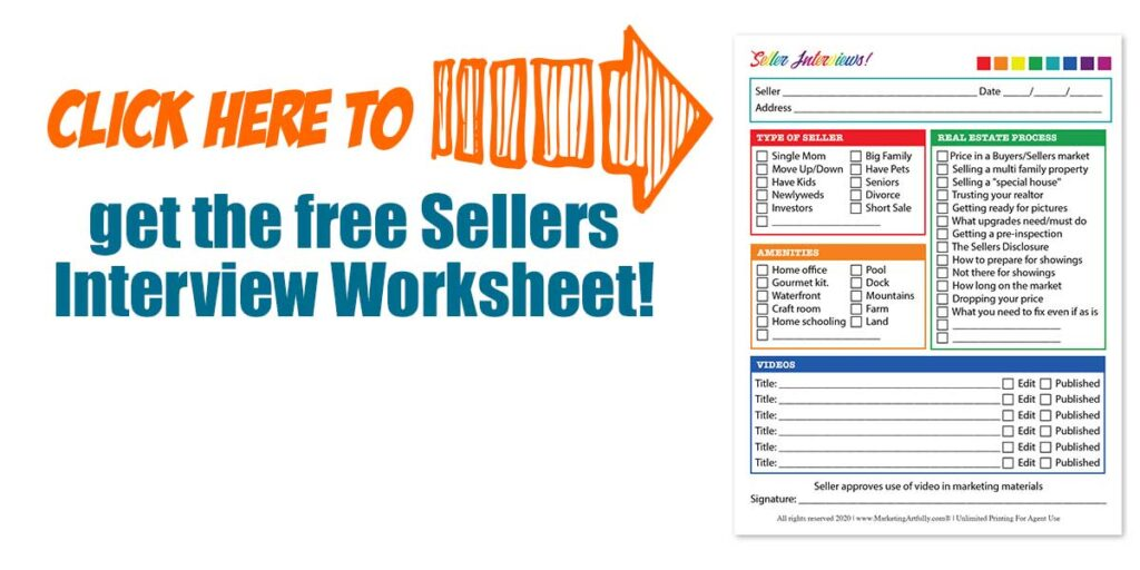 Click here to get the free sellers interview worksheet