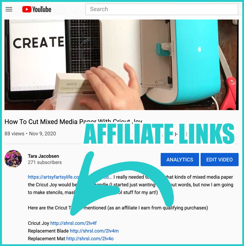 Affiliate Links On Youtube