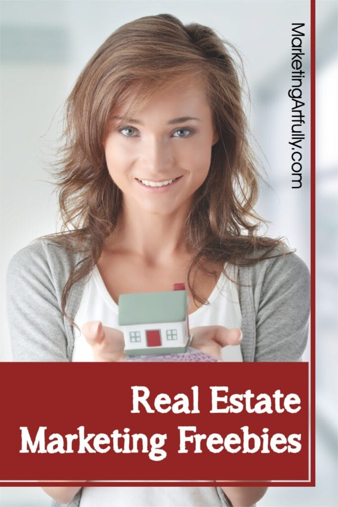 Real Estate Marketing Freebies - woman holding a house